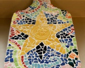 Handmade Mosaic Cutting Board Made with China It has a 10 Point Star