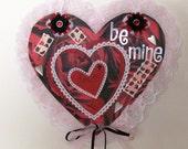 Original Mixed Media Collage  Valentine Card  Home Decor  OOAK