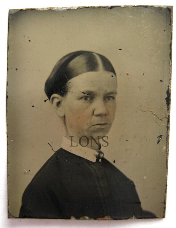 Tiny Gem Tintype photo 1870s t0 1890 DODIE