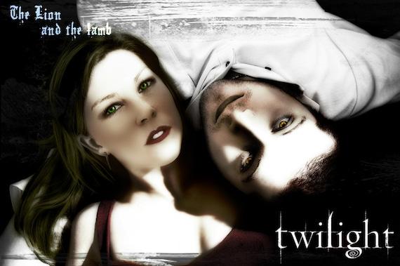 Twilight Couple  Personalized Portrait Picture