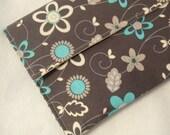 Diaper Clutch Purse Gray and Blue