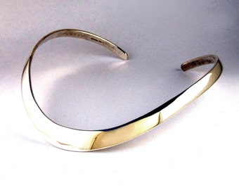 Forged Sterling Silver Collar Neckpiece