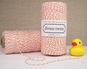 Orange and White Bakers Twine - 240 yards (720 feet) - Divine Twine