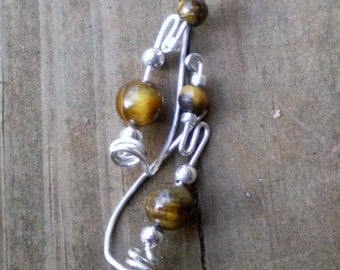 Gemstone and Sterling Ear Vine Ear Climber
