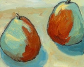 Giclee art print, contemporary still life, fruit, 12 x 12, titled Fruit Square for Two,  limited edition