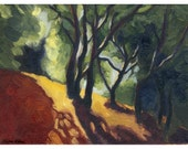 Giclee archival art print, San Francisco Bay Area, El Cerrito Hills, Limited Edition, 9 x 12, titled Pathway,