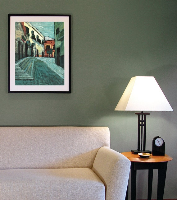 GICLEE Archival Print, limited edition, Mexican painting print, Contemporary painting, 16 x 21.6, titled Wait Here
