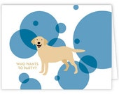 Yellow Lab party cards (set of 10)