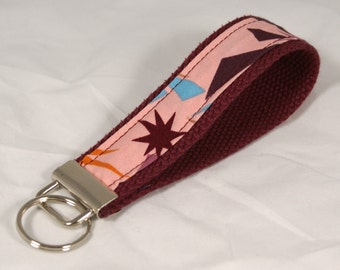 Wrist Key Holder Wristlet Key Fob Key Chain in Anna Maria Horner's Innocent Crush Ready to Ship