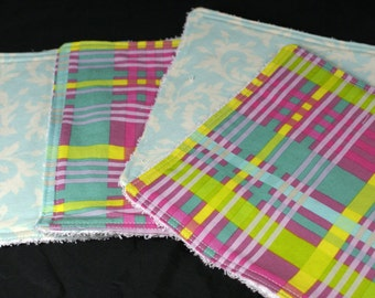 Baby Washcloths Set of 4 Ready to Ship in Designer Fabric