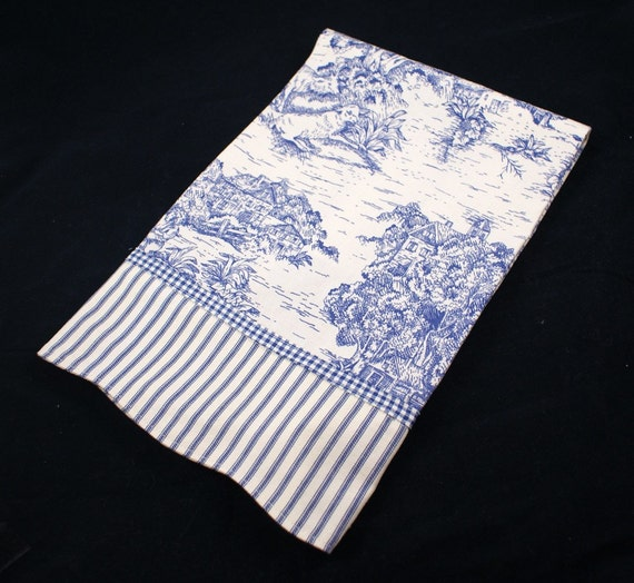 Blue French Toile Towel