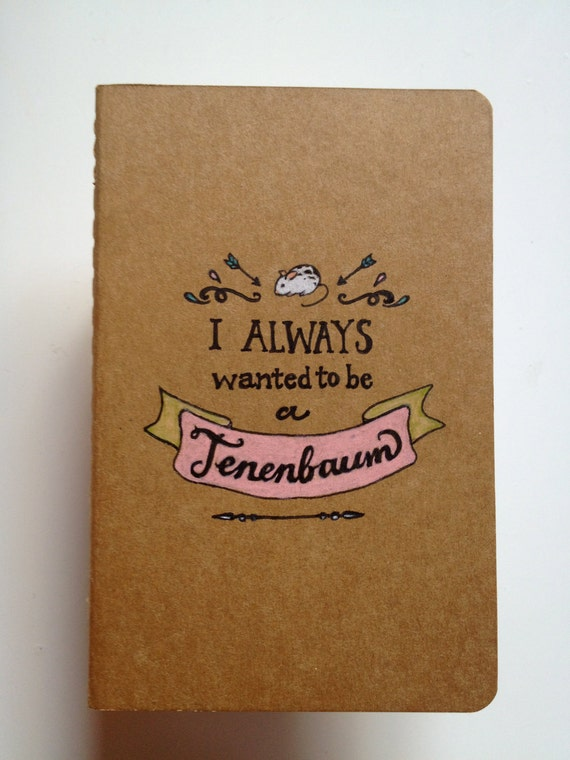 Royal Tenenbaums Moleskine Pocket Notebook reserved for Bianca