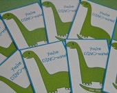 Dinosaur Valentine Card Lunchbox Notes Set of 16