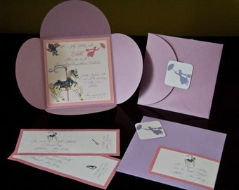 Mary Poppins Birthday Party Invitation Jolly Holiday Pochette Invitation Set of 10 by Belleza e Luce
