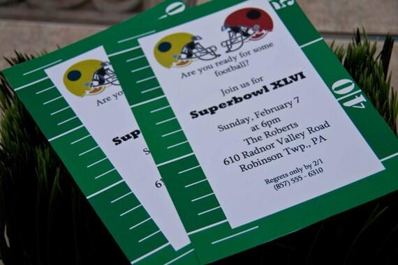 items similar to football invitations superbowl party invitations, Party invitations