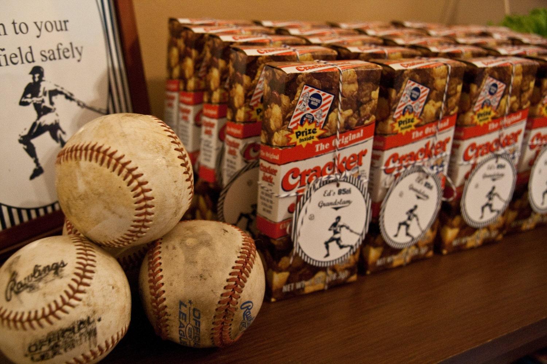 baseball party favor tags  vintage baseball old fashioned