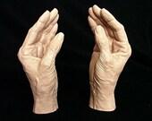 Elderly Female Life Cast Mannequin Hands Highly Detailed