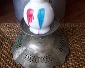 Glass Jar Small White Vintage Painted Abstract Hong Kong