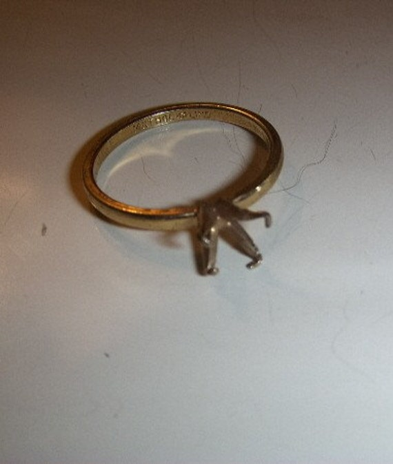 Vintage 14k Gold  Plated Ring No Setting Signed LIND