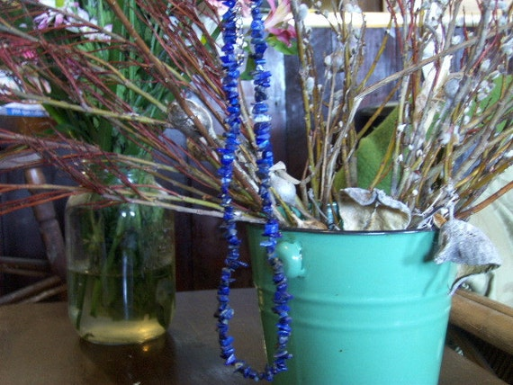 Blue Stone Bead Necklace  I've Got The Blues Beautiful Blue