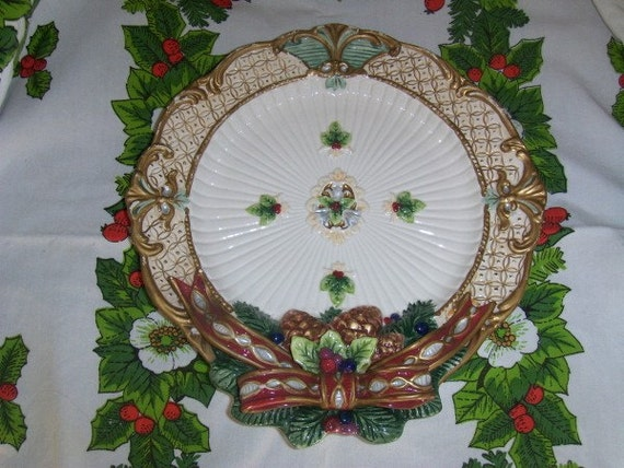 Vintage fitz and floyd canape plate christmas by for Fitz and floyd canape plate