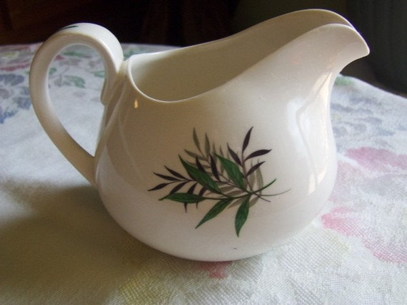 Vintage Staffordshire Creamer Fernleigh Pattern by Ridgeway  England Replacement