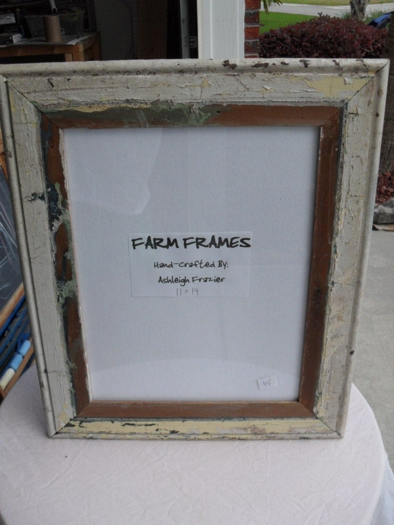 11 X 14 WHITE Old Vintage Wood Picture Frame By Farmframes
