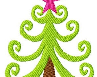 INSTANT DOWNLOAD Funky Tree (smooth version) Applique File Embroidery File Digital