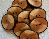 Lot of 10 XL North Carolina Spalted Pecan Handcrafted Tree Branch  Buttons....1 3/4....2 holes....123