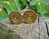 Wedding cuff links shotgun cuff links bullet cufflinks Remington/Peters 28 gauge cufflinks wedding cufflinks gold cufflinks bullet cufflinks