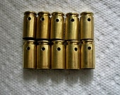 Bullet casings bullet pendants, Lot of 10 Brass .40 caliber Bullet Shell Casings, Pre-drilled casings brass casings.....Lot 56