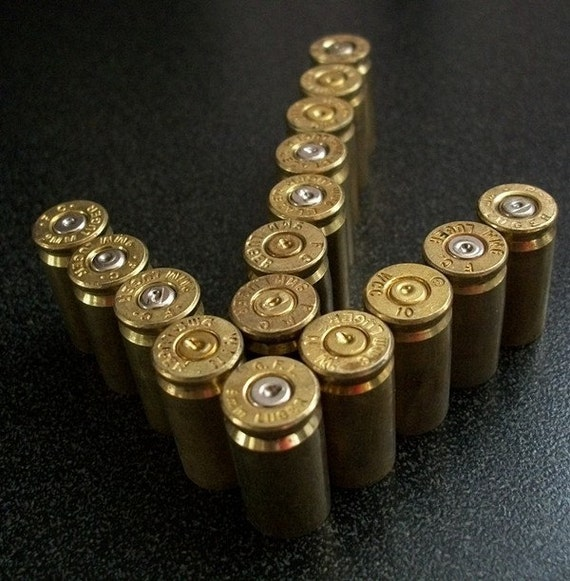Lot of 16 Brass 9mm Bullet Shell Casings..Ammo Casings...Bullet ShellsSteampunk, Altered Art or Craft Projects....Lot 72