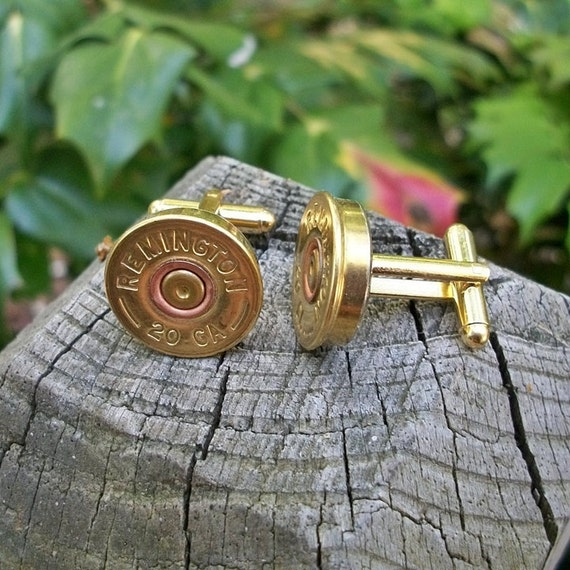 Remington Shotgun Bullet Shell Cufflinks, Wedding Special 2 matching pairs One for the Groom one for the Best Man
