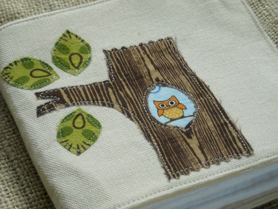 woodland themed soft fabric quiet baby book