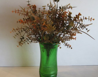 Vintage Hoosier Glass Green Vase