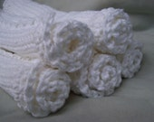 Dishcloths/Washcloths/Babycloths  Knitted From Pure Cotton  SPECIAL PRICE   5 for 14 dollars