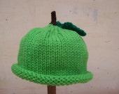 Hat Granny Smith Apple Beanie Hat Childrens sizes  GREAT PHOTO PROP as are my pumpkin punkin pumkin hats