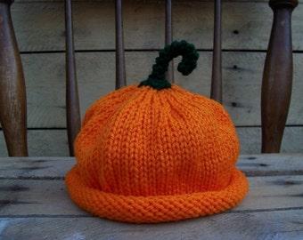 Pumpkin hat Adult/teen  size Photo Prop Halloween punkin hat orange fall green stem pumkin autumn nature harvest vegan unisex