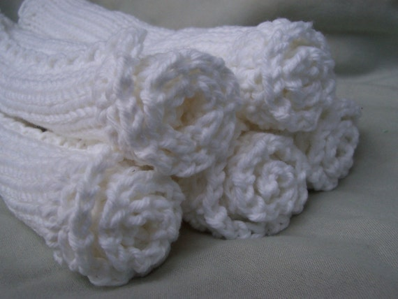 Dishcloths/Washcloths/Babycloths Knitted from Pure Cotton SPECIAL PRICE 5 for 12 dollars