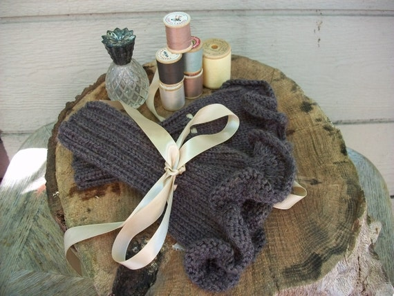 Reserved for SteveLikesPizza 2 pair Ruffled Cuffs / Fingerless mitts Romantic/ Steampunk made to order