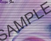 Recipe Cards - Purple Haze