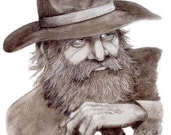 Le Raconteur - Watercolor Print - 11x15