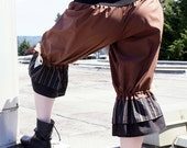 Brown and Black Ruffle Bloomers
