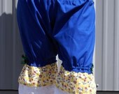 Blue Green and Yellow Flowered Ruffle Bloomers