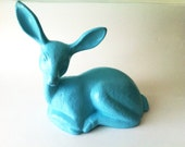 Turquoise Retro Deer Figurine