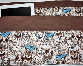 Vendor Waist Half Apron Teacher iPad Dog Puppy Animal Fabric (6 Pockets)