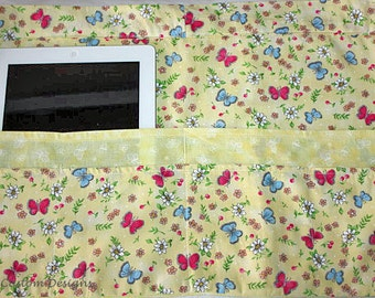 Vendor Craft Teacher iPad Half Apron Yellow Spring Flowers Butterfly (6 Pockets)