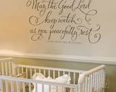 Irish Bedtime Blessing - Vinyl Wall Decal Lettering Design Art Sticker