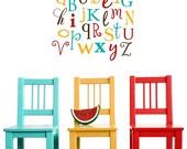 Vinyl Wall Art - Alphabet Decal Sticker