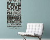 SUBWAY ART - The fruit of the Spirit - Vinyl Wall Decal lettering art design